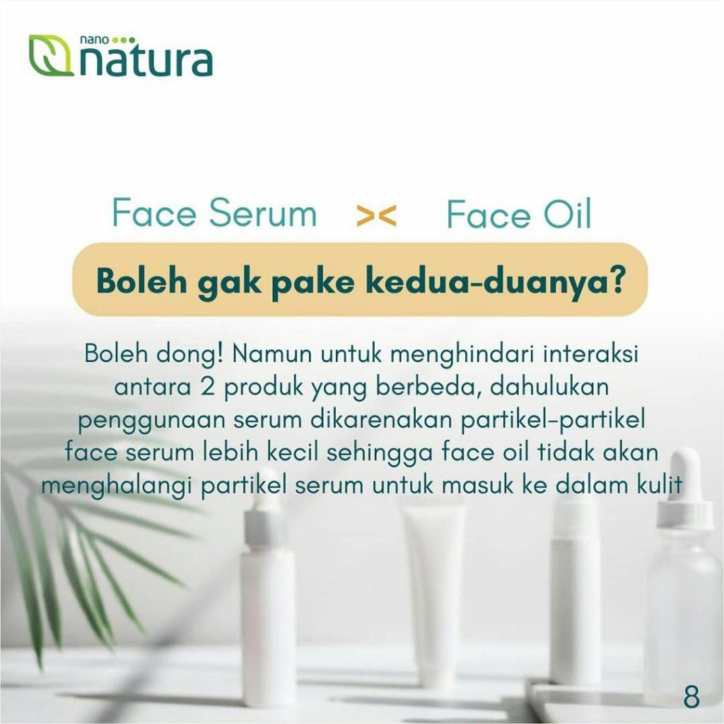 face serum dan face oil