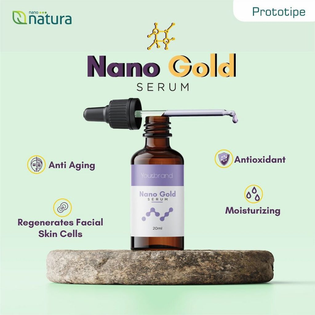 serum wajah nano gold